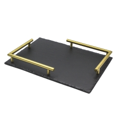 Slate Metal Serving Tray