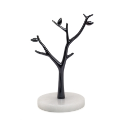Marble Jewelry Stand (Black)