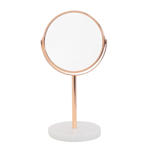 Marble Makeup Mirror (Rose Gold)
